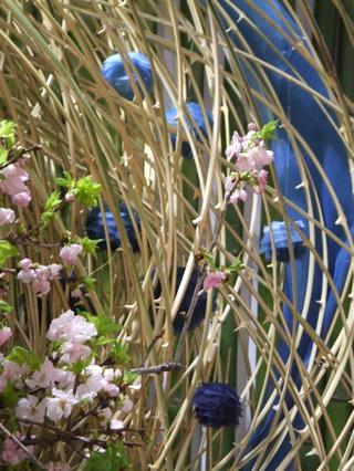 祝花オブジェ・徳島大学:平成24年度入学式